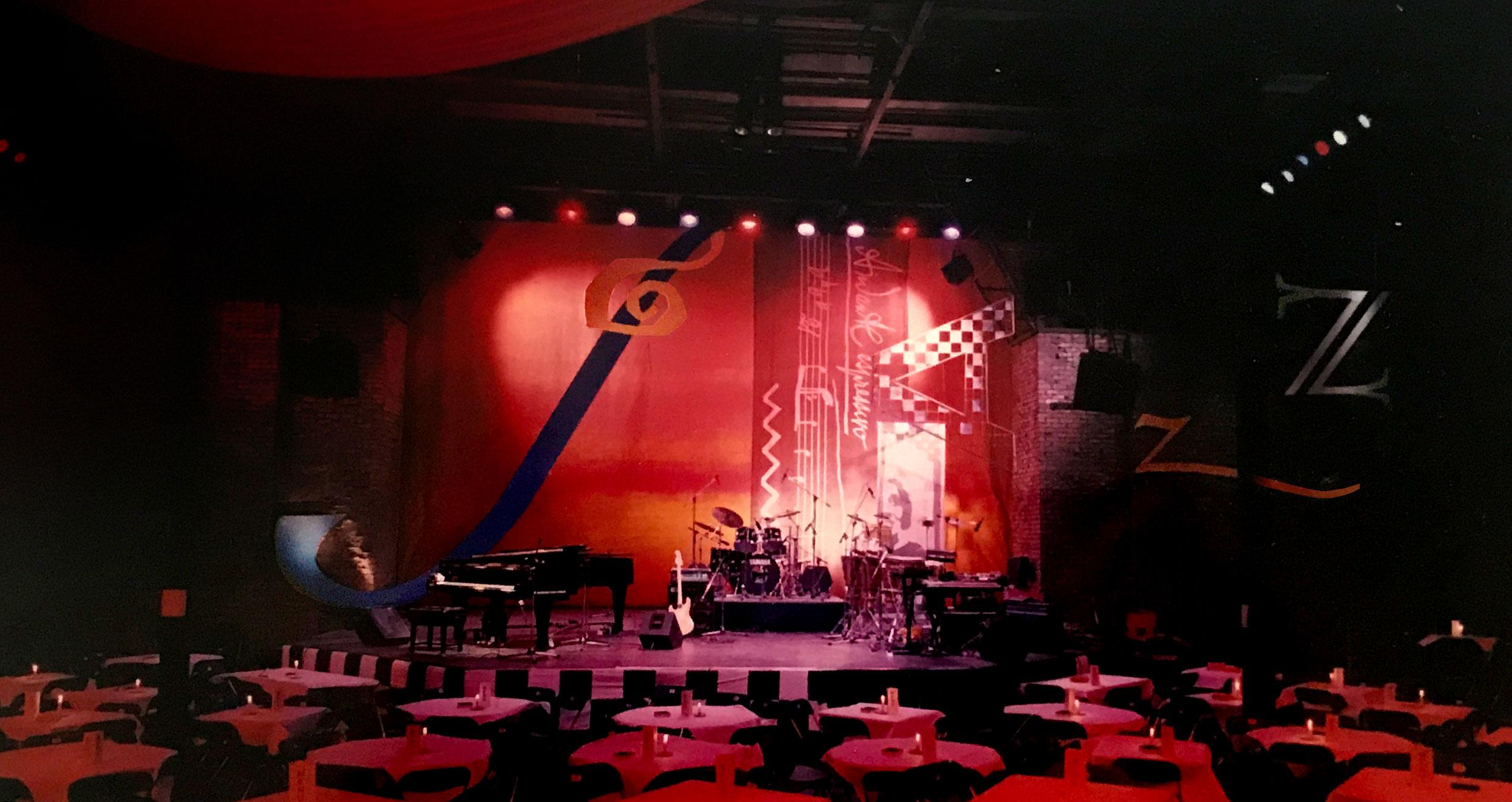 Late Night Jazz Club set design