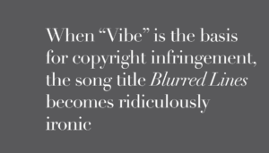 The song title Blurred lines is ironic