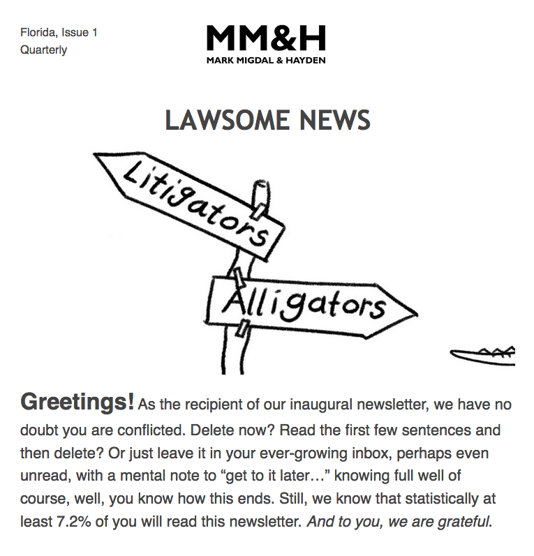MM&H Newsletter 1