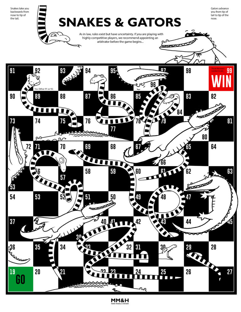 MM&H Snakes and Gators board game