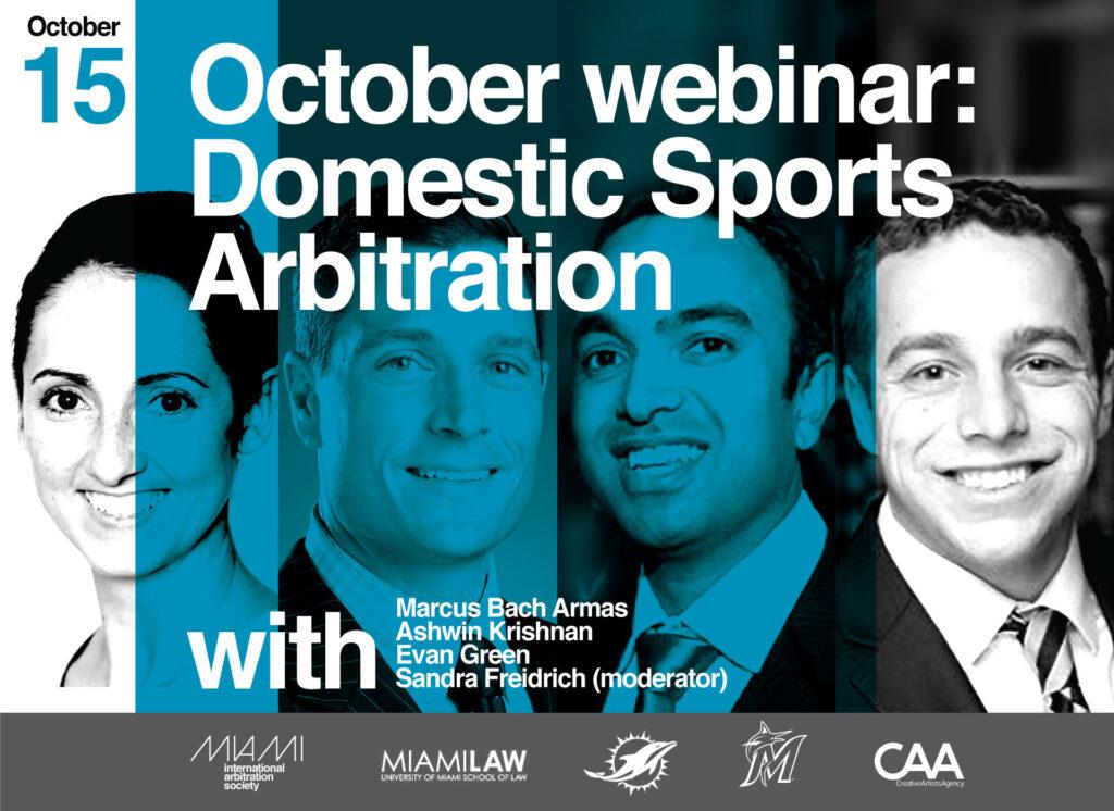 October Sports Arbitration Webinar